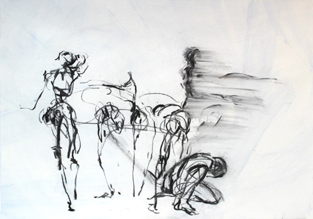 Thursday, Rosemary Butcher, charcoal 3