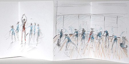 drawings of Thomas Tallis students week 2