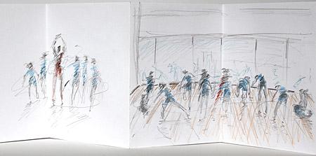 drawings of Thomas Tallis students week 2