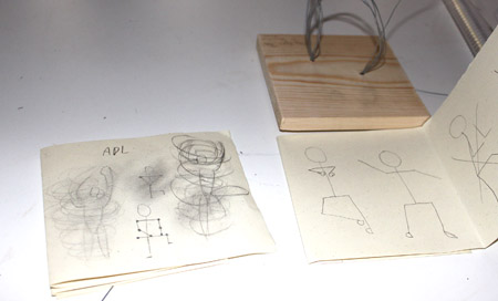 students sketch book