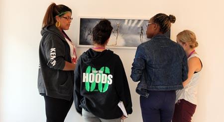 Lewisham College Btec Dancers discuss my exhibition
