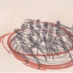 Sally McKay Rapidly Scrawled Life, etching